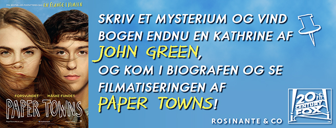 Paper Towns skrivekonkurrence