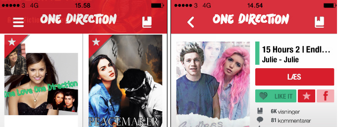 1D fan fiction app